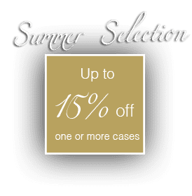 Summer Selection up to 15% off one or more cases