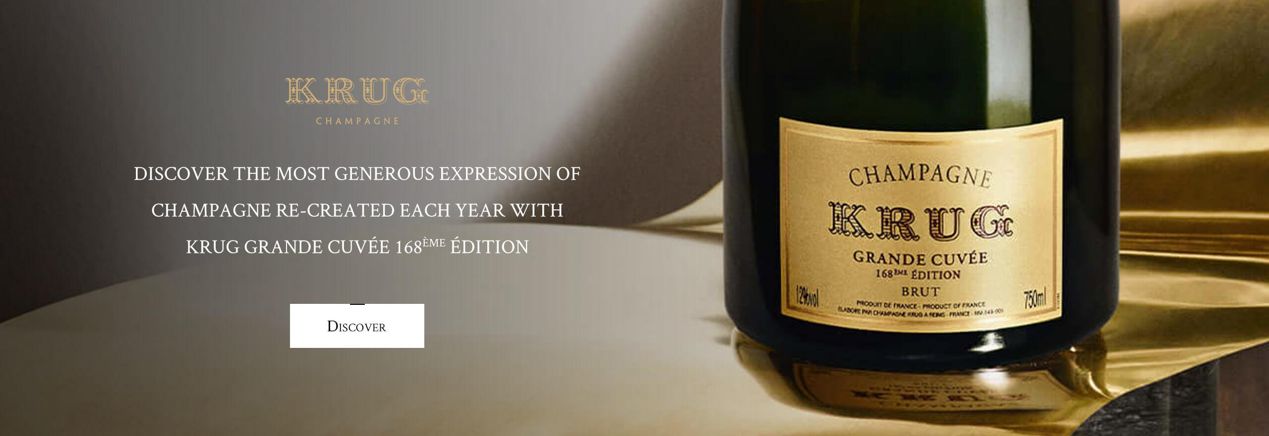 Champagne Krug Grande cuvée 168ème édition