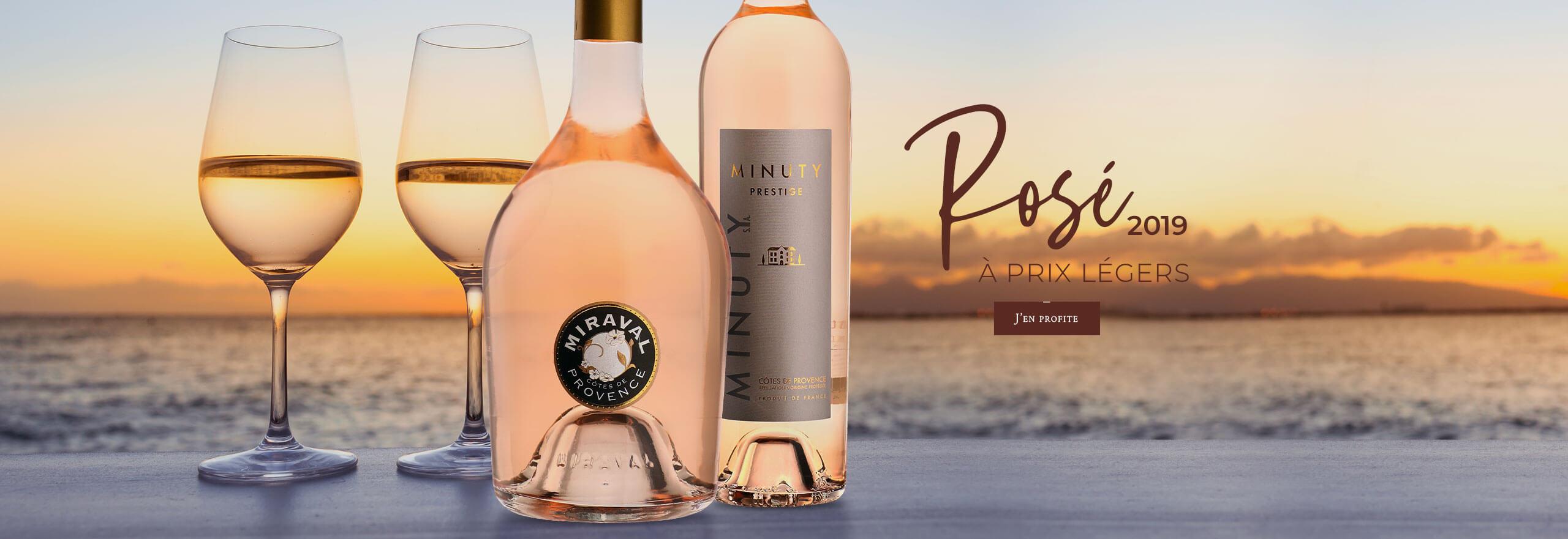 Rosé 2019 à prix légers