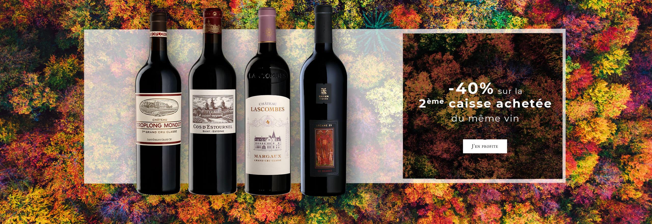 -40% sur la 2ème caisse achetée du même vin