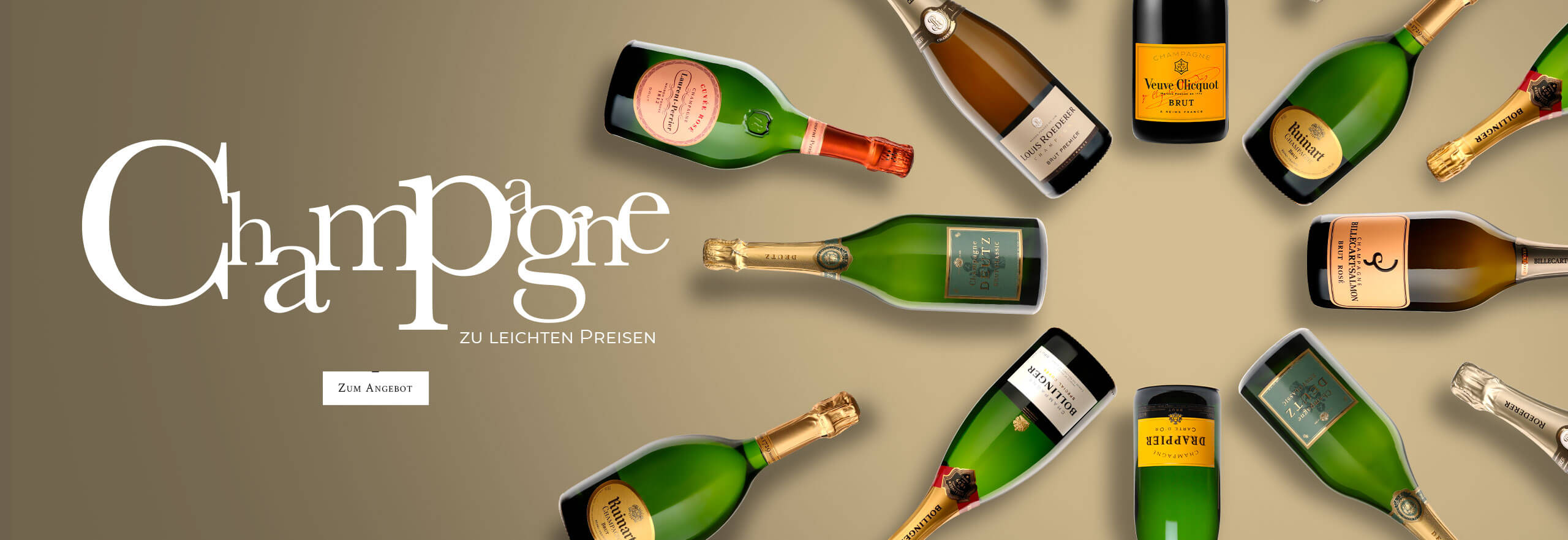 Champagne die leichten Preise
