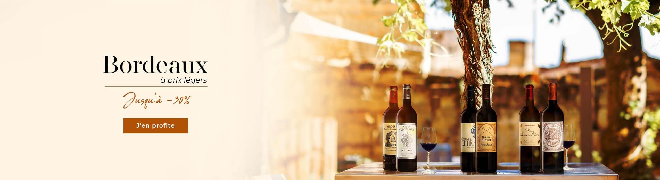 Nouvelle offre : jusqu'à -30% | Bordeaux à prix légers !