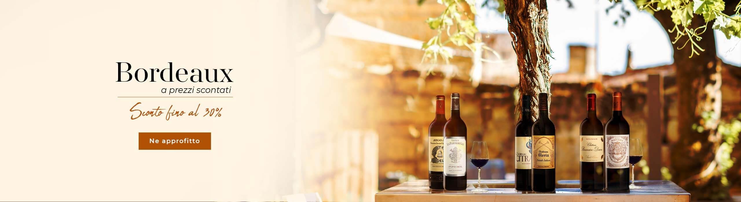 Nuova offerta : uno sconto fino al 30% Bordeaux a prezzi scontati