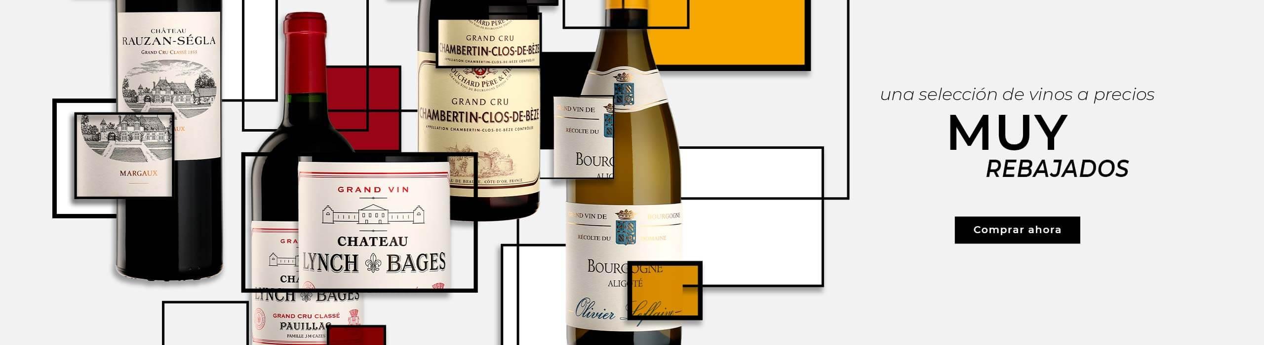 ¡Oferta especial : una selección de vinos a precios muy rebajados!