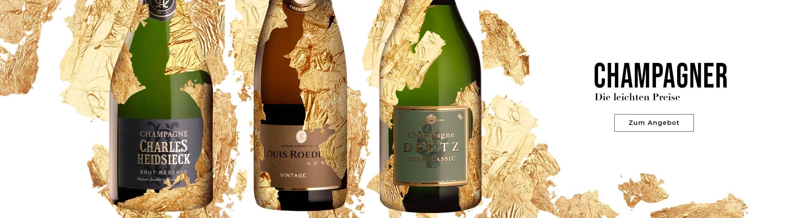 Mehr als 80 Champagner zu leichten Preisen !