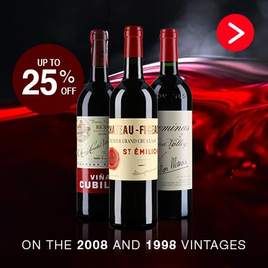 Up to 25%off On The 2008 And 1998 Vintages