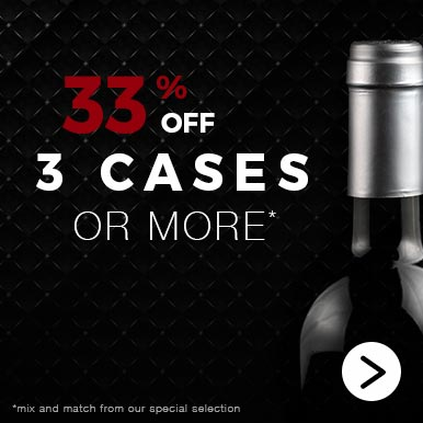 33% off 3 cases or more!