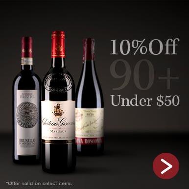 90+ point wines under $50