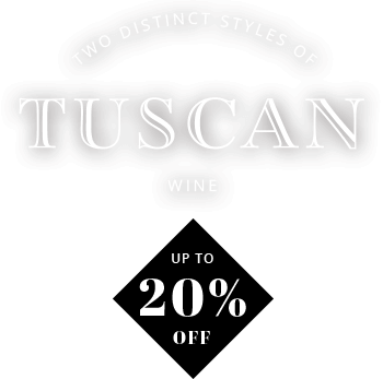 Tuscan wine up to 20% off