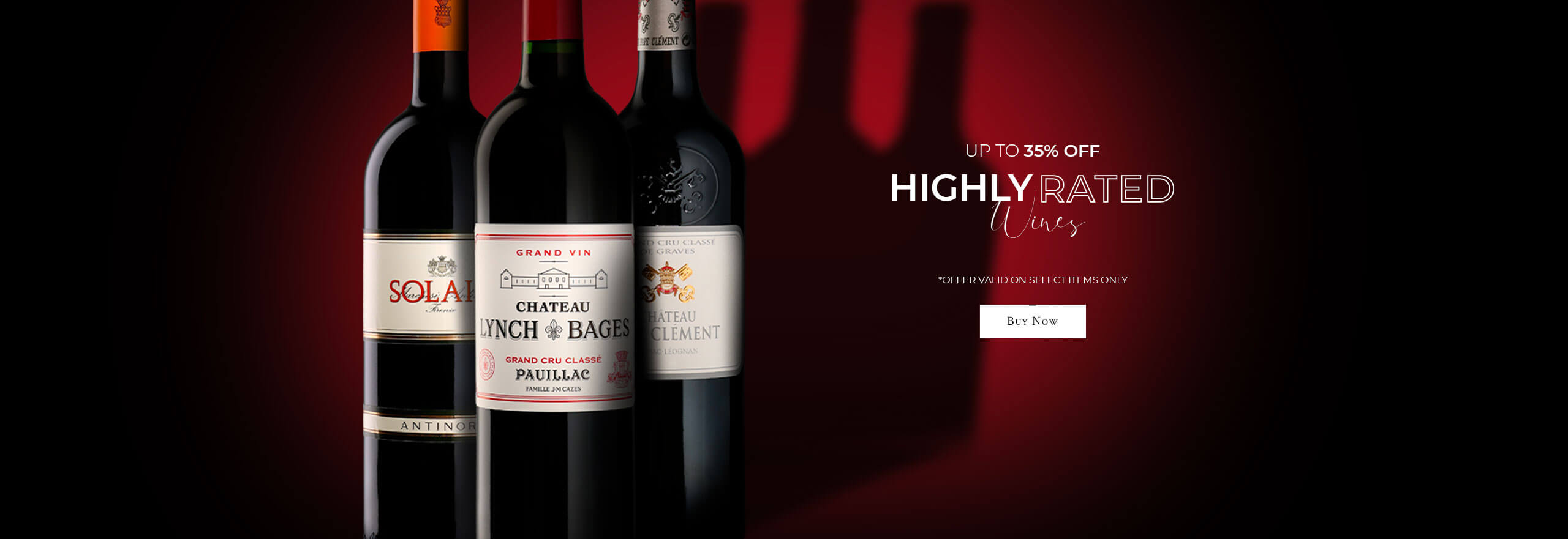 Highly rated wines on sale