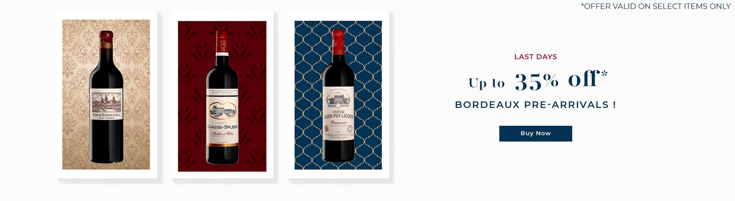Discover a new special and enjoy up to 35% off Bordeaux Pre-Arrivals !