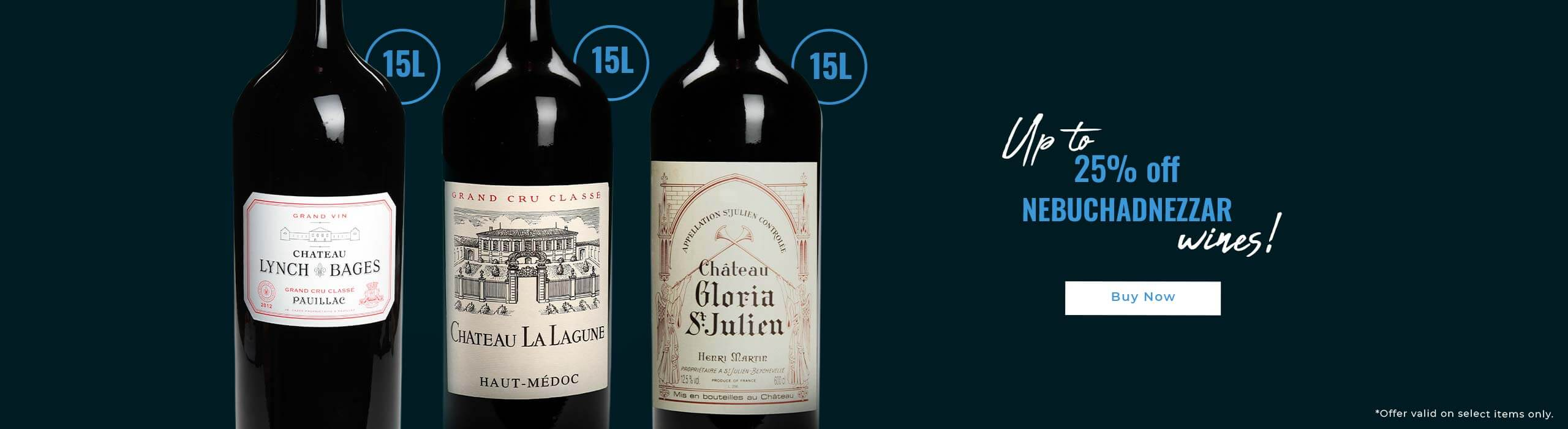 Up to 25% off Nebuchadnezzar wines