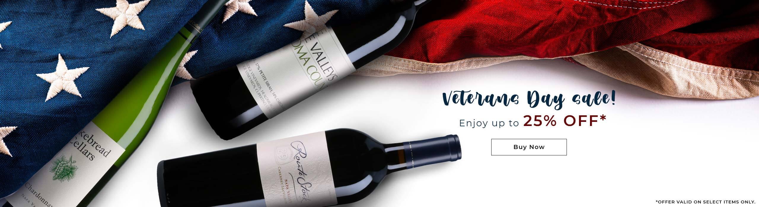 Domestic wines for veteran day